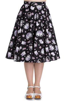 Hell Bunny Amelia Black Skirt - Gwynnie's Emporium