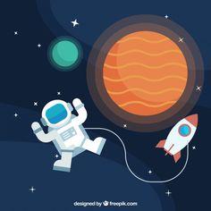 Astronaut Cartoon, Space Debris, Science Photos, After School, Toy Story, Cosmos, Cute Art, Art For Kids, Wallpaper