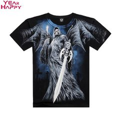 afcbe5b2df49 Men T-shirts Black Cotton O-Neck Ghost Wing Sword Camisetas 2015 Plus Size  Short SleevesTop Tee Hollistic