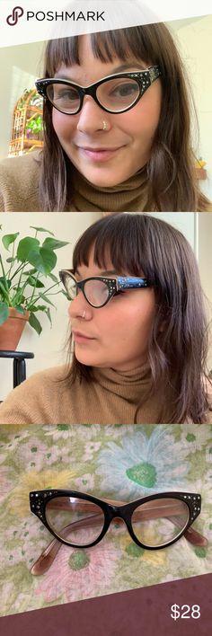 3010d9fcd90 ✨✨1950 s Rhinestone Cat Eye Glasses ✨✨