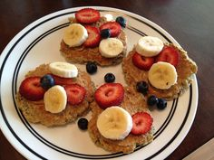 Grain-free and awesome.  I added chocolate chips and served with fresh strawberries and bananas.