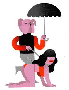 Levi Jacobs - Illustration Dog Walker - www.levijacobs.nl