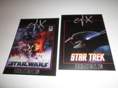 STAR WARS Empire Strikes Back and STAR TREK Promo Postcard COMIC CON