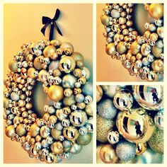 Christmas bauble wreath tutorial things i want to doneed to know diy christmas bauble wreath would prefer more colour for the kids but the density and solutioingenieria Choice Image