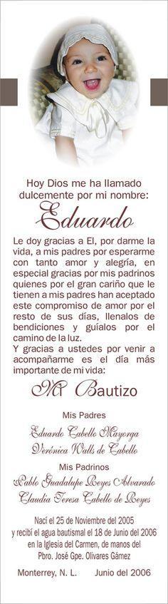 oracion bautizo eduardo | Flickr - Photo Sharing!