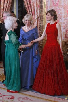 The Duchess of Alba, Camilla, Duchess of Cornwall, and Princess Letizia of Spain.