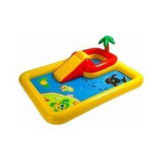 Inflatable Swimming Pool Outdoor Summer Family Fun Kiddie Water Slide Play Swim #Intex