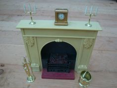 Vintage Sindy Pedigree Fireplace + Accessories ~ HAVE