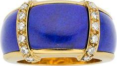 Van Cleef & Arpels Lapis Lazuli, Diamond, 18k Gold Ring