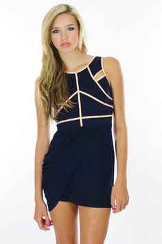 Finders Keepers Only the Young Dress in Royal Blue/Apricot