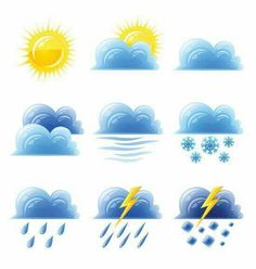 Weather Symbols For Kids, Weather For Kids, Teaching Weather, Seasons Activities, Wow Facts, Diy Notebook, Class Decoration, Sistema Solar, Montessori Activities