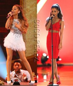 Ariana Grande Is Red, White, And Hot All Over Performing At A Very GRAMMY Christmas!