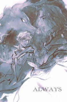 Harry Potter Severus Snape, Severus Rogue, Harry Potter Magic, Harry Potter Anime, Slytherin, Hogwarts, Diabolik Lovers, Rogues, Anime Art