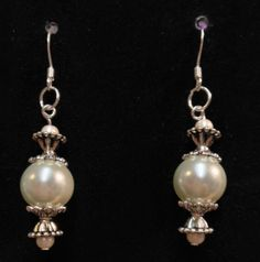 Bali Pearl  dangle earrings with hook by UniquelyArdath on Etsy, $12.99