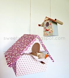 Sweet Charli: Paper Bird Houses {whimsical}