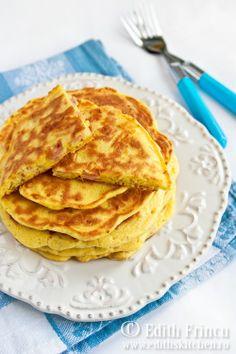 pancakes cu suncă și cașcaval