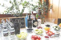 Como decorar un 40 cumpleaños para él - Blog decoración y Proyectos Decoración Online gin tonic table / fruits