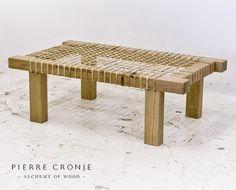 A Pierre Cronje Riempie Coffee Table in French Oak