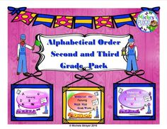 """Alphabetical Order Second and Third Grade Pack from Mickey""""s Place on TeachersNotebook.com -  - Alphabetical Order Second and Third Grade Pack includes the sets from Second Grade, Third Grade, Ordering by Second Letter.  Students will practice their alphabetical order skills while reading."""
