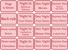 Love coupons for boyfriend ideas