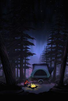 Camper Illustration by Brian Miller