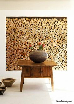 Home wall decoration wood creative wallpaper design with modern style for inspiration home decoration ideas wall . home wall decoration Stacking Firewood, Firewood Storage, Wallpaper Wall, Fireplace Cover, Unused Fireplace, Fireplace Drawing, Fireplace Candles, Fireplace Facade, Cabin Fireplace