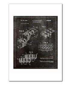 Lego Toy Building Brick 1961 Art Print