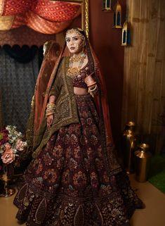 Latest Bridal Lehenga, Indian Bridal Lehenga, Indian Bridal Outfits, Indian Bridal Wear, Indian Gowns Dresses, Indian Fashion Dresses, Indian Designer Outfits, Bridal Dresses, Wedding Lehenga Designs