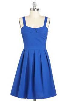 Simple, Playful, and Blue  3 things that make for a beautiful dress.  #ModCloth