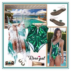 """""""ROSEGAL new one piece swimwear"""" by carola-corana ❤ liked on Polyvore featuring Guerlain"""