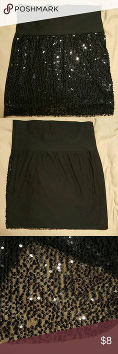 Skirt Black Sequin mess front, Can be worn as mini or midi skirt. Basic fabric is made of stretchy cotton so it is very comfortable. dream out loud Selena Gomez Skirts Mini