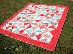 """Moda Bake Shop: Easy as Pie Layer Cake Quilt - could be a good """"boy"""" quilt with the right fabric."""