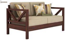 Buy Veneker Wooden Sofa Set (Walnut Finish) Online in India - Wooden Street Furniture, Wooden Sofa Designs, Wood Sofa, Wooden Sofa, Sofa Design, Cheap Bedroom Furniture, Wooden Sofa Set, Sofa Set, Sofa Wood Frame