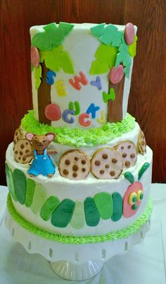 story time baby shower cake
