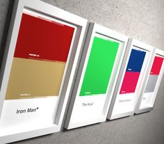 "The Avengers Pantone Collection - 11x17"" Art Prints, Iron Man, Hulk, Captain America, Thor, loki, Marvel, Minimal Movie Poster Superhero  For that grown up superhero room."