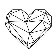 Geometric Heart, Geometric Wall, Geometric Animal, Art Mural, Wall Art, Simple Wall Paintings, Dibujos Zentangle Art, Heart Wall Decor, Geometric Drawing