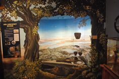 Scenic art used to great effect in Museum display, Dorman Museum, Middlesborough, UK. diorama.