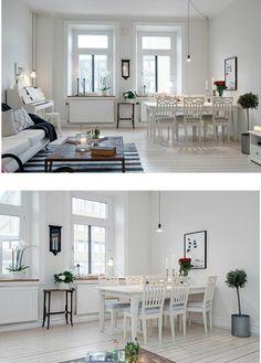biała jadalnia,jadalnia w skandynawskim stylu,salon z jadalnią w jednym pomieszczeniu,jadalnia z salonem,styl skandynawski we wnetrzach,biały stół skandynawski,białe krzesła skandynawskie,białe meble skandynawskie do jadalni,jak urzadzić skandynawski salon z jadalnią,meble skandynawskie w bialym kolorze,tradycyjne meble skandynawskie