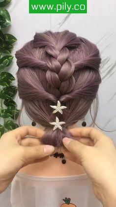 Creative Hairstyles, Braided Hairstyles, Cool Hairstyles, Easy Little Girl Hairstyles, Toddler Hairstyles, Braids For Short Hair, Short Hair Styles, Coco Hair, Hair Due