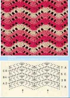 50 Ideas For Crochet Blanket Pattern Zig Zag Zig Zag Crochet, Crochet Motif, Manta Crochet, Crochet Instructions, Crochet Diagram, Crochet Chart, Crochet Simple, Confection Au Crochet, Easy Crochet Blanket