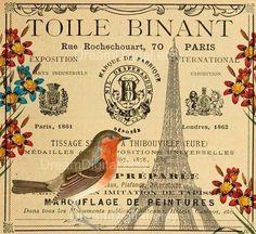 Paris ephemera digital download