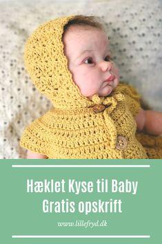 Rådyrgenser fra Sandnes garn - relax Crochet Romper, Newborn Crochet, Knit Crochet, Crochet Hats, Romper Pattern, Crochet Cardigan Pattern, Crochet Patterns, Baby Bonnets, Diy Baby