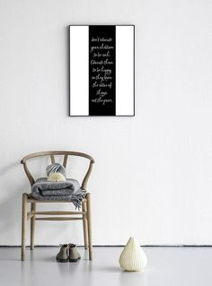 "Black and White Wall Quote Print ""Don't educate your children to be rich..."" Typography Art Poster 24x36"", 50x70, A4 by PrintablePixel on Etsy"