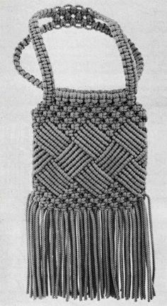 Macrame Shoulder Bag … Macrame Handbag and Key Ring … Etsy - Fashion Macrame Purse, Macrame Knots, Bag Women, Diy Bags Purses, Micro Macramé, Crochet Tote, Macrame Design, Vintage Accessories, Ladies Accessories