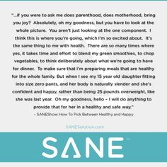 Starvation Is NOT Healthy. Stop counting calories & go #SANE with me at http://SANESolution.com