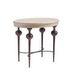 Villa Couture Adriana Lamp Table in Glaze