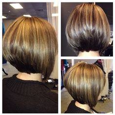 Short Angled Bob Hairstyle: Pretty Hair Color