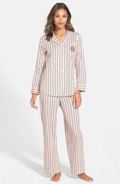 Lauren Ralph Lauren Plaid Brushed Twill Pajamas (Regular & Petite) available at #Nordstrom