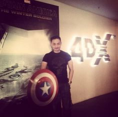 The artist IG@soegimitro at the movie to get inspiration to draw Captain America Minion Stamps.