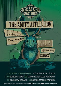 the amity affliction new tour uk dates- love the art !!!